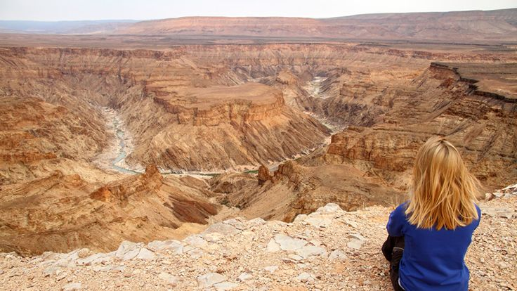 Hike the Fish River Canyon in Namibia and enjoy the view from the top with us #luxurytravel #namibia #africa #bucketlist