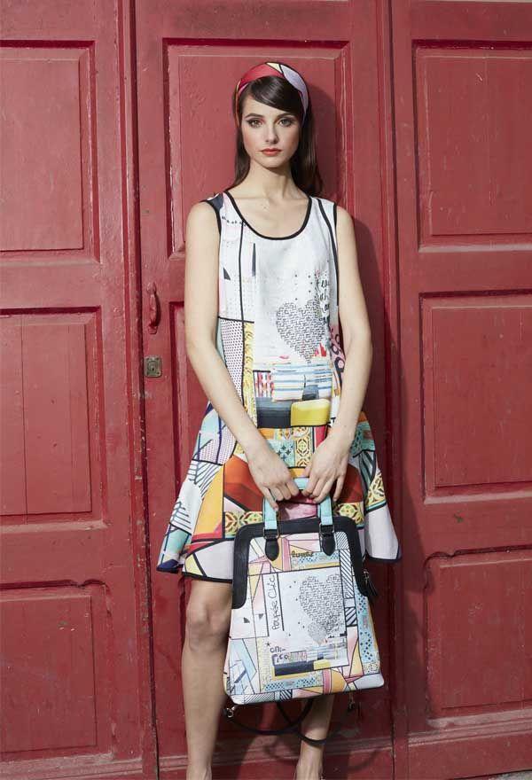 Vestido Godets Pop Art #poupeechic Primavera-Verano 2016