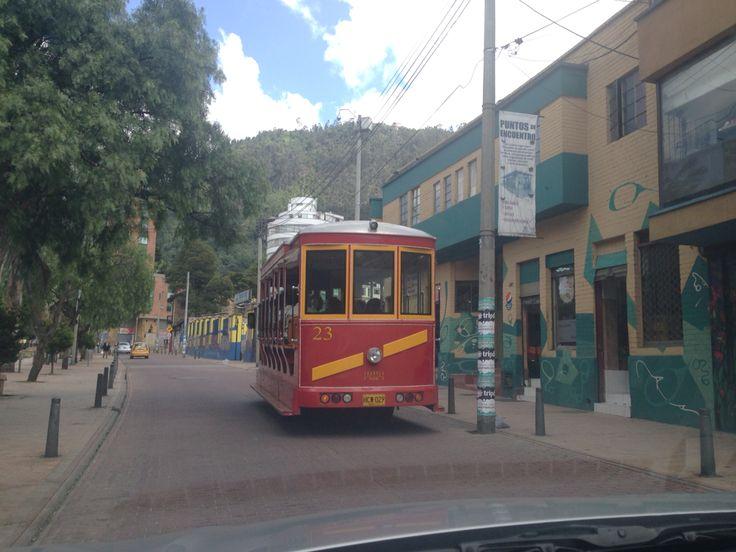 El tranvía en las calles de #Bogotá