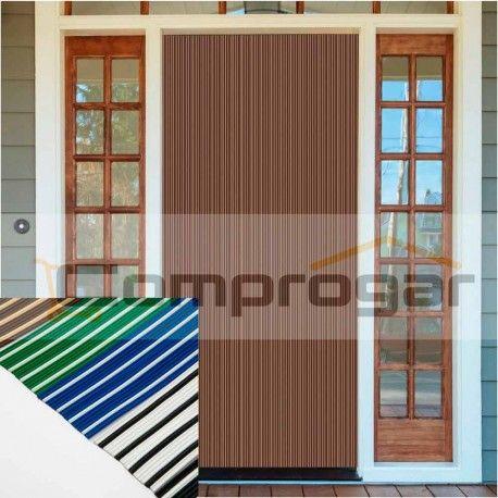 cortina cintas bicolor pvc colores opacos antimoscas de exterior para puertas y ventanas cortina