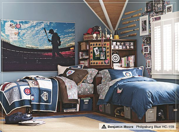 Cool baseball room-like the oversize pic, but trying to stay vintageBoys Bedrooms, Kids Room, Room Ideas, Boy Rooms, Twin Beds, Teen Boys, Baseball Room, Boys Room, Bedrooms Ideas