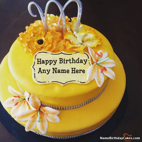 Lemon Drizzle Cake For Birthday Wish With Name
