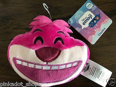NWT Disney Parks Cheshire Cat Emoji Soft Plush Reversible
