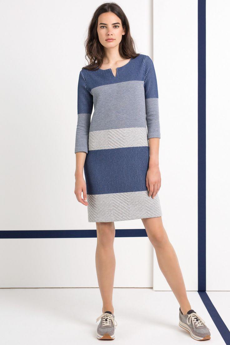 jurk met streeppatroon