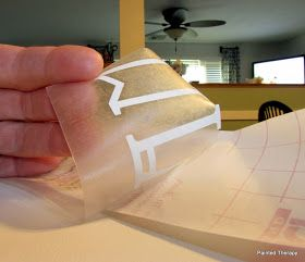 Use clear contact paper instead of expensive transfer paper to move vinyl lettering