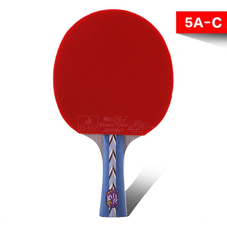 sporting goods genuine double fish five-star double face reverse glue Horizontal Grip table tennis racket 5A-C for amateurs