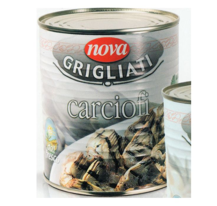 Nova Carciofi grigliati. Grillowane karczochy w oleju. Grilled artichokes in oil. www.del-italy.eu
