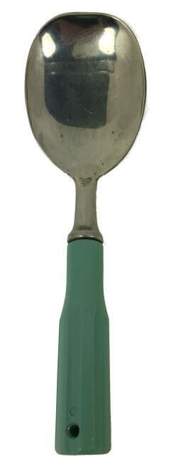 Summer is the time for ice cream socials!  This is a nice size serving spoon for digging into large buckets of ice cream! - Vintage Ice Cream Scoop with Turquoise Handle | Vintage kitchenware found at ShopVintageGrace.com