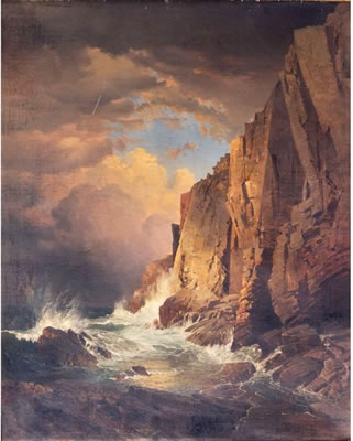 William Trost Richards - The Otter Cliffs, Mount Desert Island, Maine