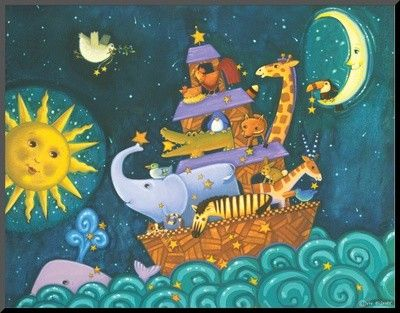 'The Ark, the Sun and the Moon' by Viv Eisner Graphic Art