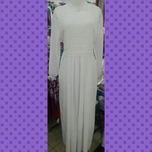 Dress brokat putih