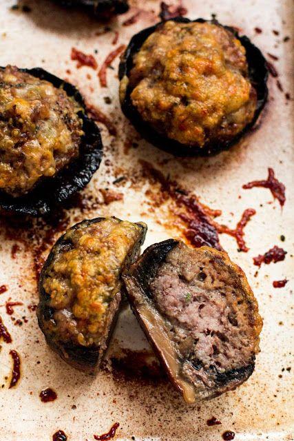 Pieczarki faszerowane mięsem mielonym z tymiankiem
