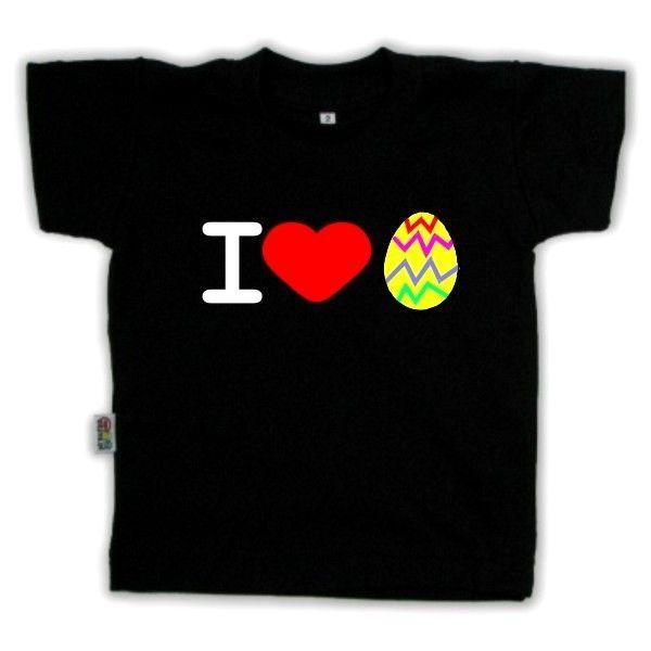 Koszulka dziecięca - I love jajo z FamilyInBlack.pl