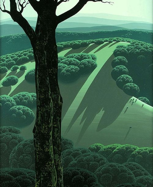 Green Hillside (1970) – Eyvind Earle (American, 1918–2000)