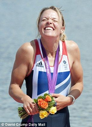 The podium feeling: Anna Watkins receives an Olympic gold medal alongside Katherine Grainger at London 2012 for the women's double sculls rowing event.