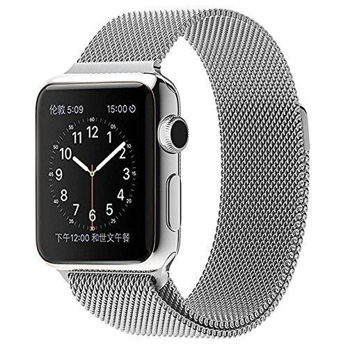 Surwin Apple Watch Armband 38 mm aus Milanese Sportuhren Uhrenarmband mit Einzigartige Magnet-Verschluss für alle Versionen Apple Watch iWatch Band - Silber - http://on-line-kaufen.de/surwin/surwin-apple-watch-armband-38-mm-42-mm-aus-milanese-13