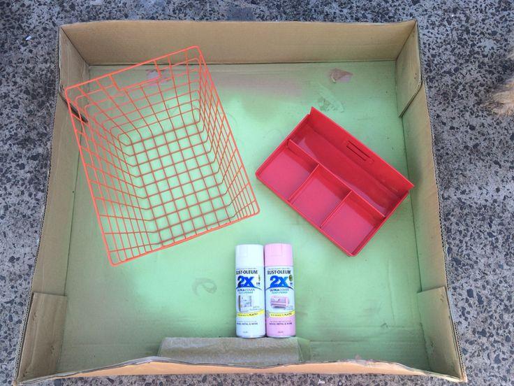 Spray painting Kmart items