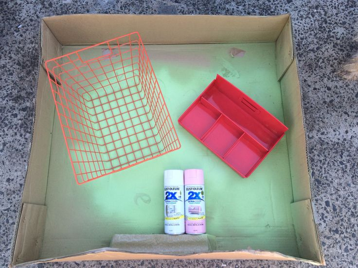 Spray painting Kmart items