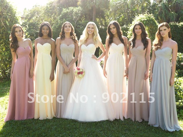 Best Selling Sweetheart Straight Cheap Bridesmaid Dresses Long US $109.99