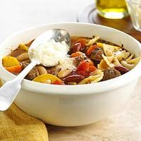 Try this slow cooker version of the popular tomato-based soup that combines beef, beans, pasta, and vegetables into one slow-simmering main dish.