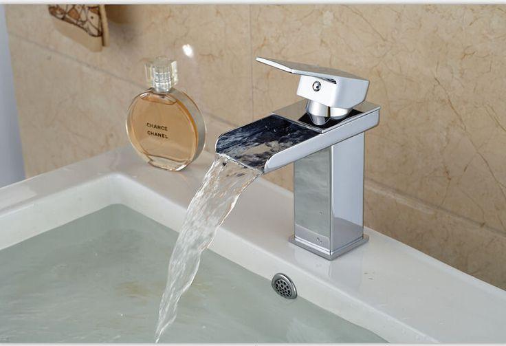 Polished Chrome Bathroom Basin Faucet Single Handle Countertop Sink Mixer Tap