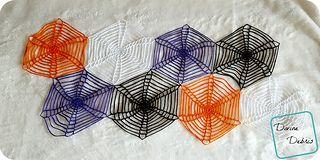 Spiderweb Table Runner crochet pattern on Ravelry