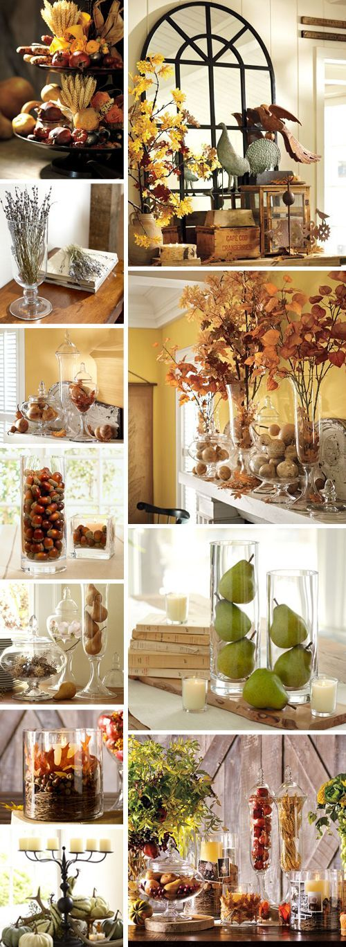 Pottery Barn Fall Decorating Ideas (what to put in your glass tumblers)