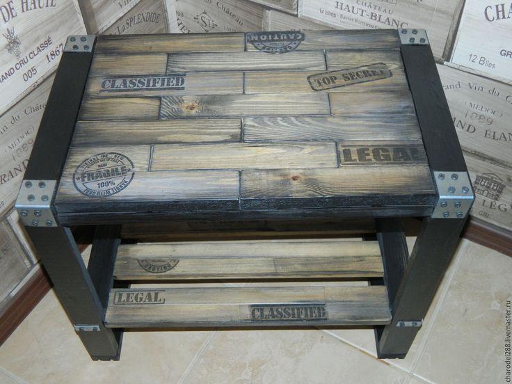 Купить Стол в стиле лофт - коричневый, стол в стиле лофт, индастриал, мебель индастриал