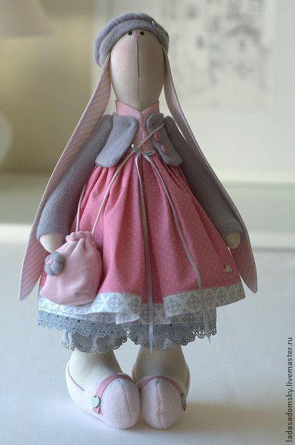 Игрушки животные, ручной работы. Ярмарка Мастеров - ручная работа Зайка Chloe - 38 cм. Handmade.