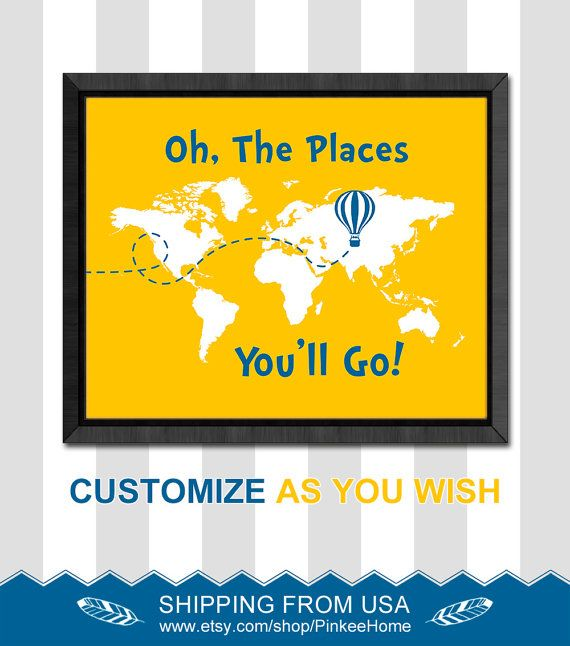 182 best Dr Seuss nursery - Oh the places you will go - world map ...