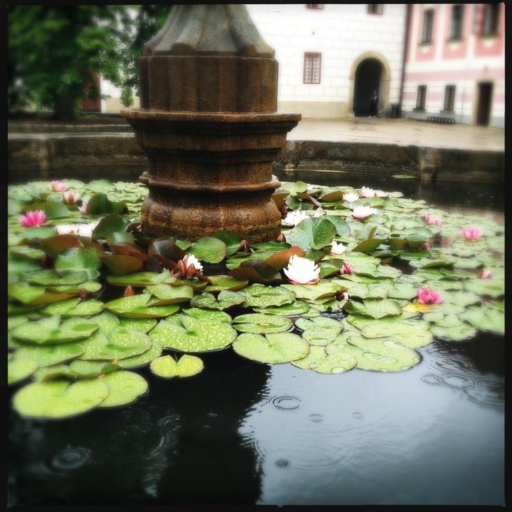Fountain in Třeboň.