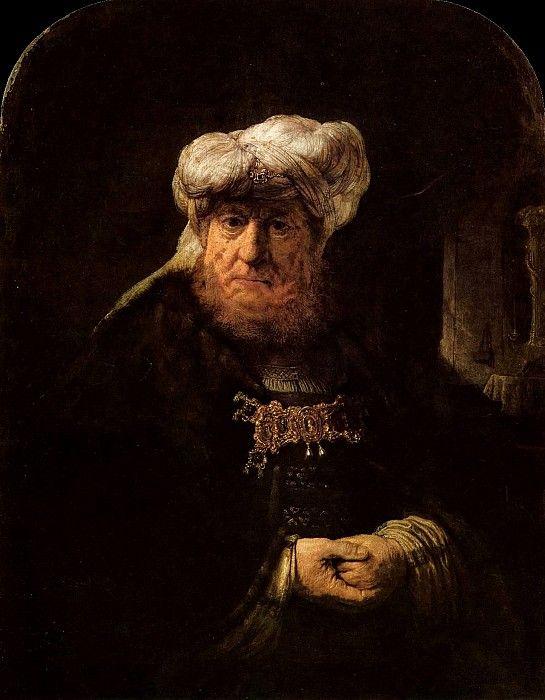 Царь Озия, пораженный проказой. Харменс ван Рейн Рембрандт