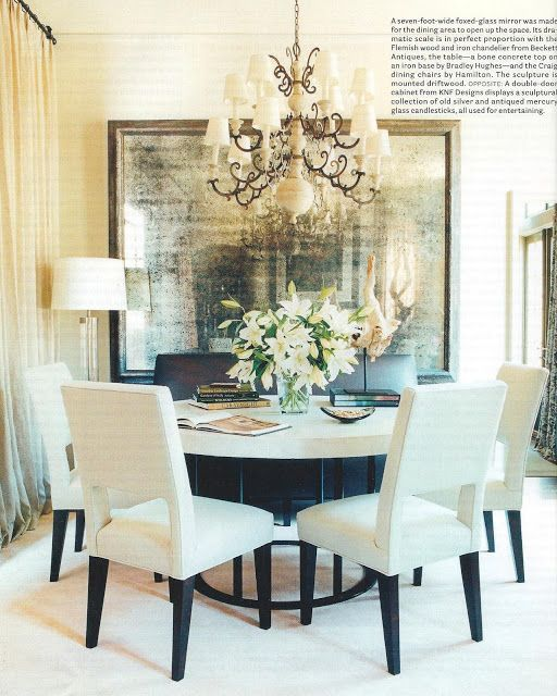Beautiful Dining: Mirror With Impact In A Small Dining Room