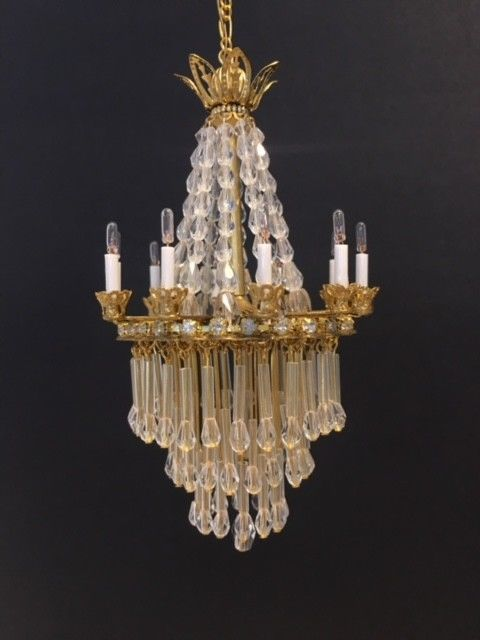 Dollhouse Miniature Handcrafted Crystal Chandelier W 10 Candle Lights 1 12 12v Chandelier Crystal Chandelier Miniatures