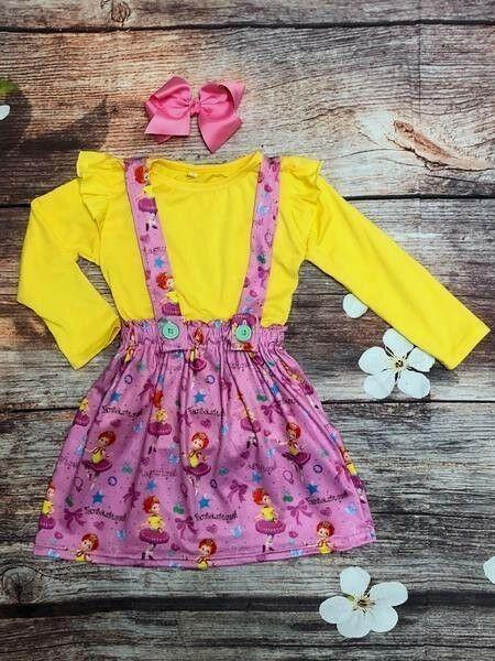 8b8b243fddb19 Fancy Nancy Suspender Skirt & Shirt Set Dress Sizes 2T 3T 4T 5/6 6/7  #fashion #clothing #shoes #accessories #babytoddlerclothing  #girlsclothingnewborn5t ...