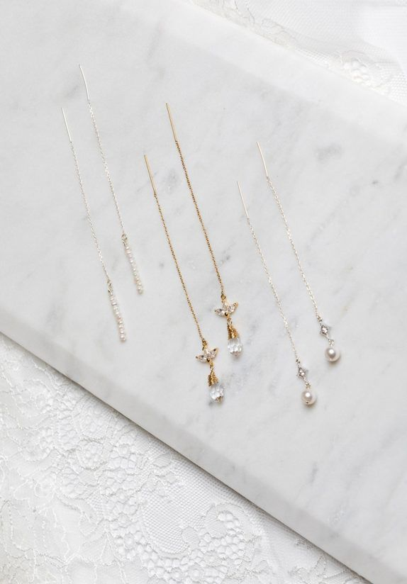 ISABEAU crystal drop chain earrings 2