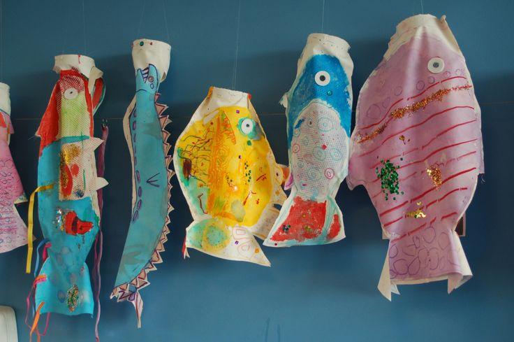 Vissen. Kunstproject bso's SKA