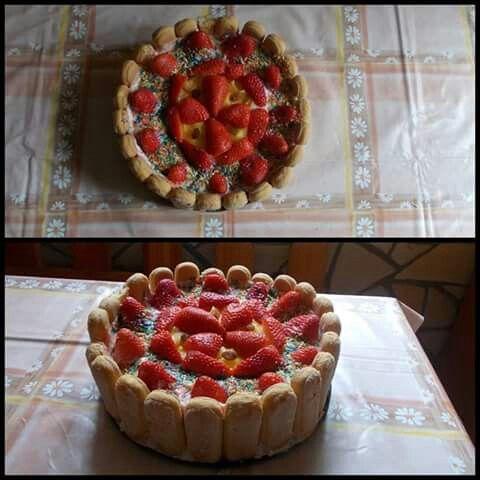 Babapiskótás puding torta