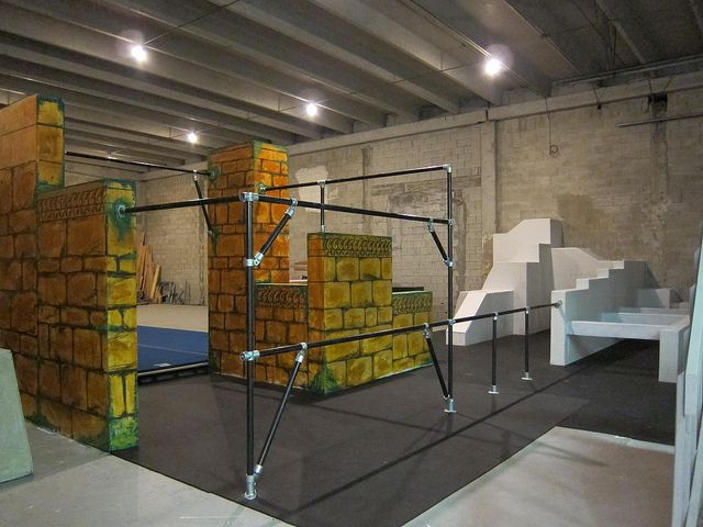 Kee Klamp Parkour Structure At Miami Freerunning Academy By Simplified Building Concepts Via Flickr