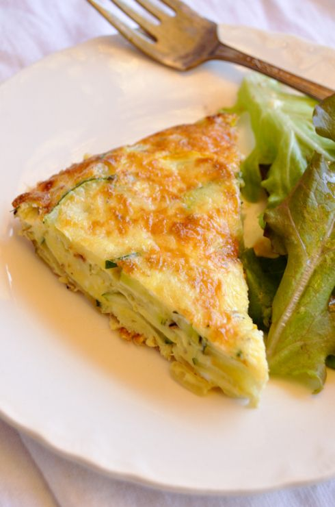 Summer Squash Frittata, now I can use a lot of the squash from the garden!