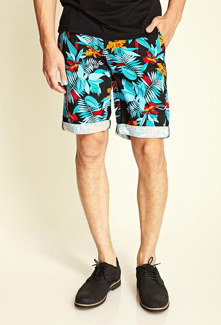 Tropical Print Shorts | 21 MEN #21Men