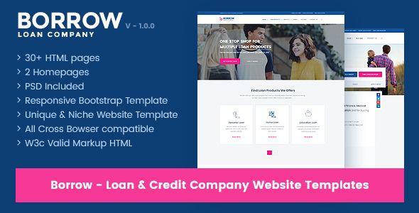 Borrow - Loan Company Responsive Website Templates