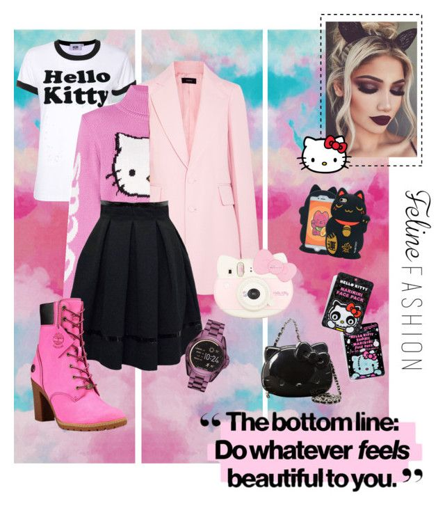 """Well Hello, Kitty."" by jessicaadawn on Polyvore featuring Joseph, GCDS, Tamara Mellon, SANRIO, Michael Kors, Timberland and Hello Kitty"