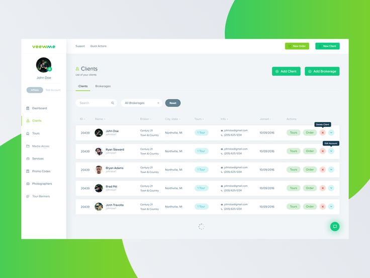 Veewme - Clients redesign concept