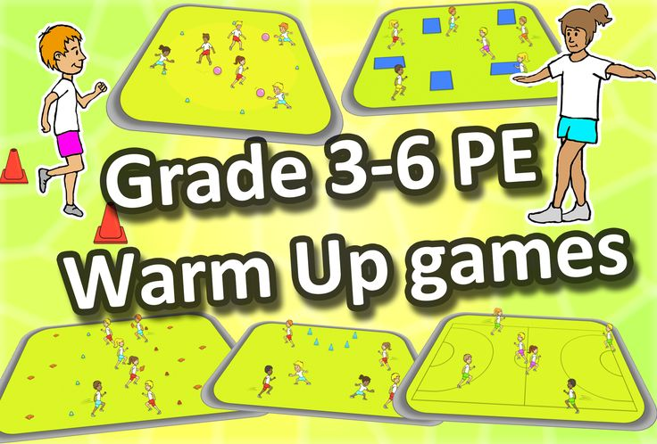Download 8 Free warm up games - perfect for your PE lessons at elementary school.