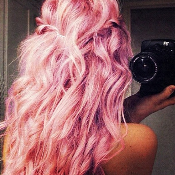 how to get candy floss pink hair