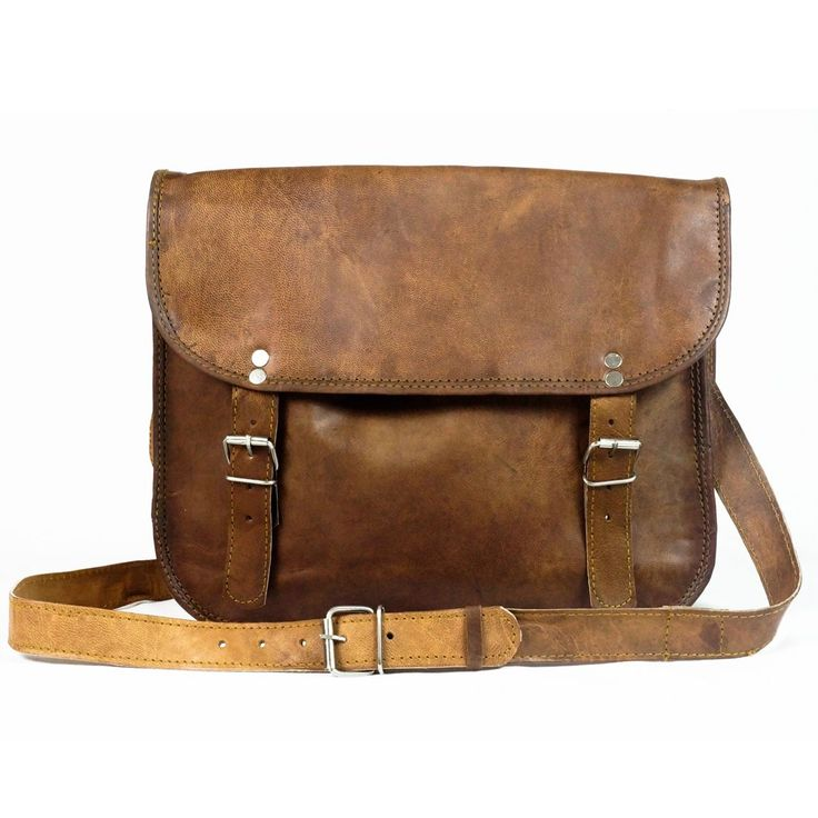 Natural Leather Handmade Fairtrade Larch Satchel