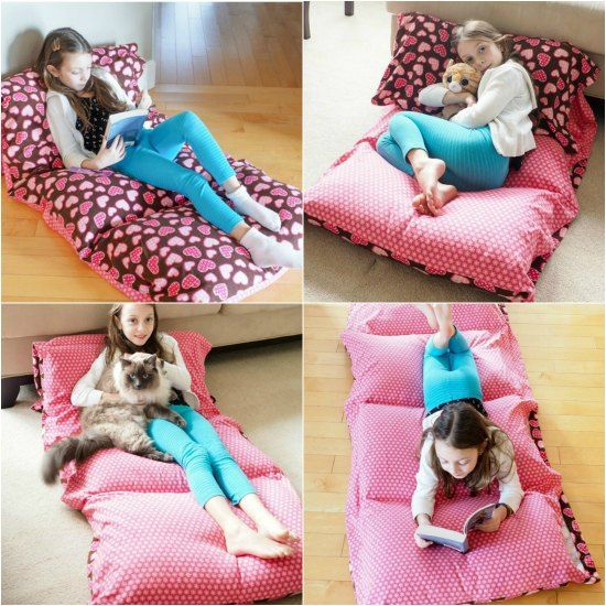 DIY Cozy Pillow Bed | https://diygiftworld.com/diy-cozy-pillow-bed/ | Perfect for the kiddos!