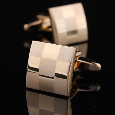 Fashionable 1.5cm Men's Gold Copper Cufflink (Gold)(1pair) – EUR € 5.99