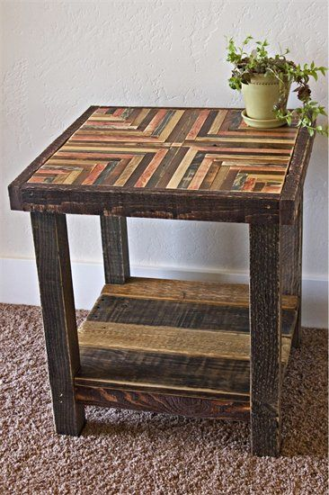 Hammered Tin Coffee Table